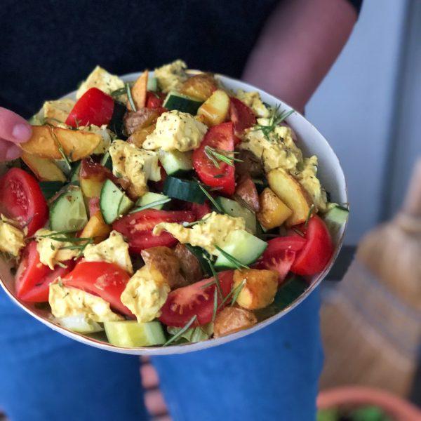 Salat mit mariniertem Mozzarella