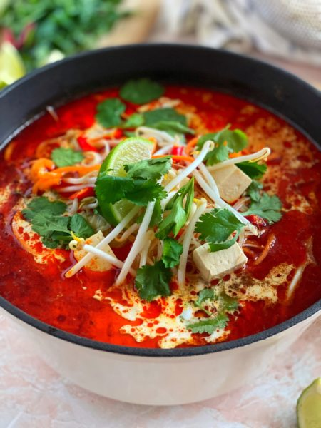 Laksa Curry Suppe, Limetten, Soja