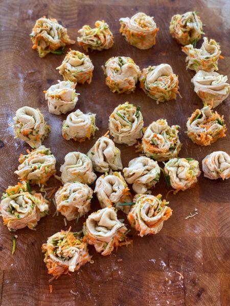 Mini Muffins, Gemüse Muffins, Hefeschnecken, Gemüseschnecken - ANA+NINA