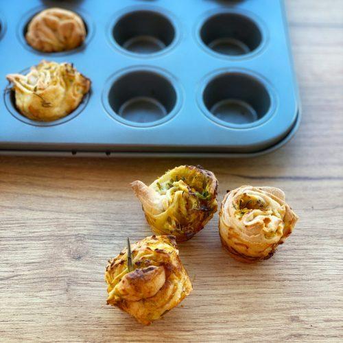 Mini Hefeschnecken, Gemüse, mini Muffinform, Muffinblech - ANA+NINA