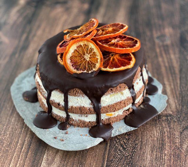 Schokoladentorte mit Orangen