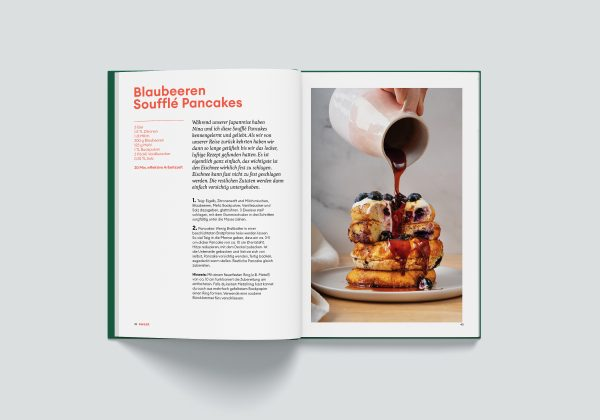 Kochbuch fresh & simple, Blaubeer Pancakes, ANA+NINA Kochbuch,