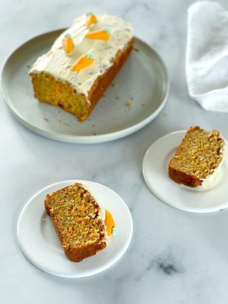 karottenkuchen, aufgeschnitten, Teller, Carrot Cake