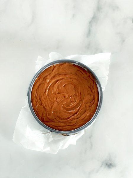 Torte, Schokolade, Kuchenform, Springform von oben