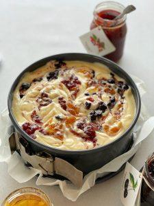 Cheesecake, Fruchtaufstrich, Amselspitz