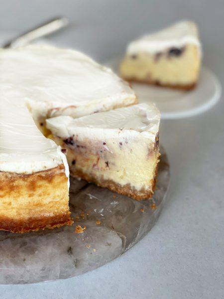Cheesecake, Fruchtaufstrich, Sauerrahm