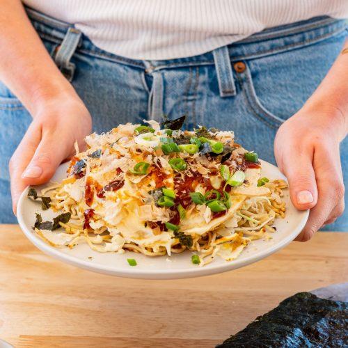 Okonomiyaki, japanisch, Weisskohl