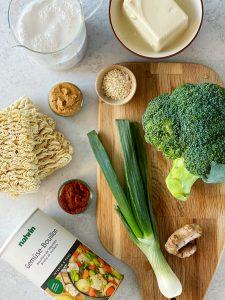 Thai, Ramen, Suppe, Gemüse, Tofu, Gewürze, Nahrin