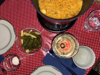 Fondue, Käse, Wein, Fluss